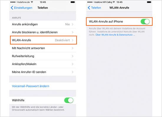 Vodafone: Kostenloses WiFi Calling für alle LTE-Kunden