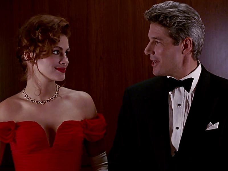 Julia Roberts ind Richard Gere in Pretty Woman.