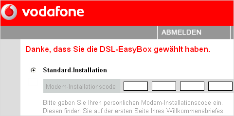 Easybox Zugang