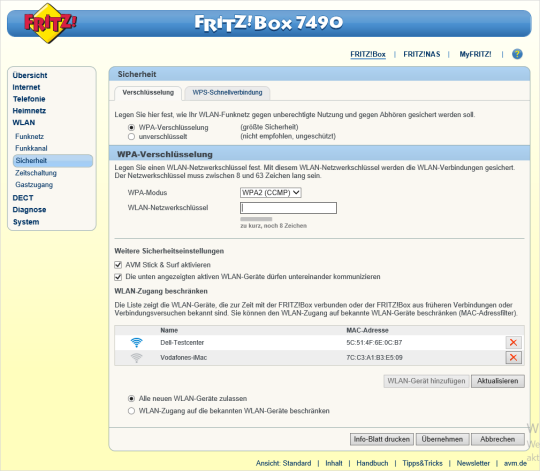 Hilfe  Installation - Vorbereitung - FRITZ!Box 10 (Windows 10)