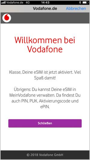 O2 De Willkommen Sim Karte Aktivieren.Esim Und Esim Fahige Gerate Vodafone