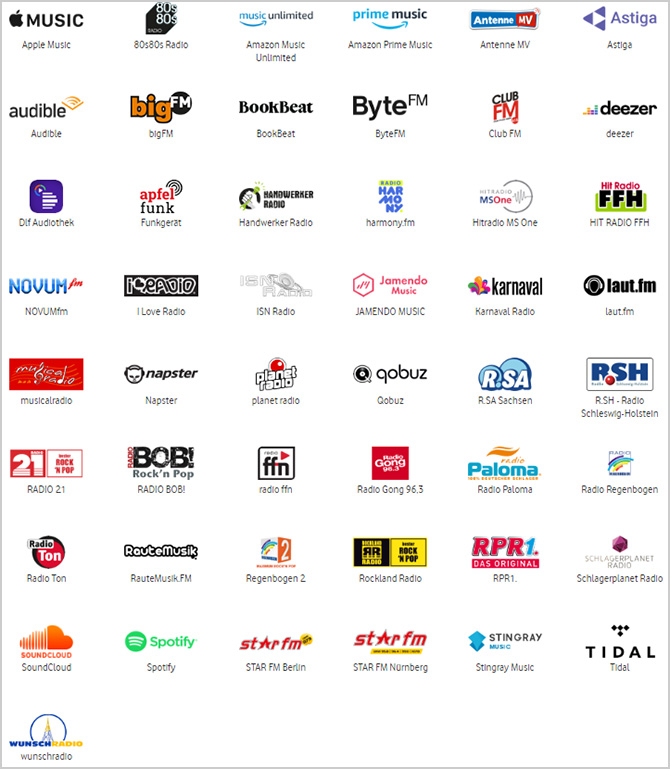 Apps im Music-Pass