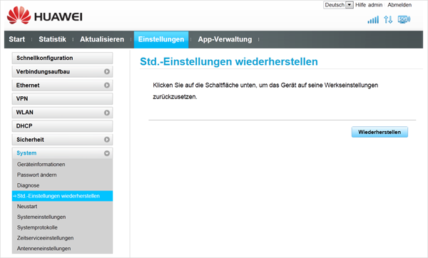Hilfe Gigacube Andere Router