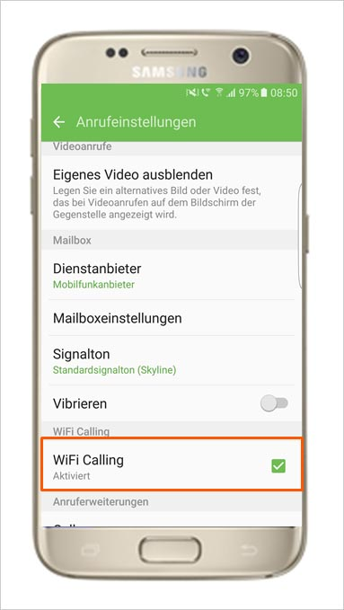 Vodafone wifi calling aktivieren