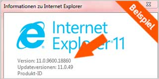 Internet Explorer Updateversion