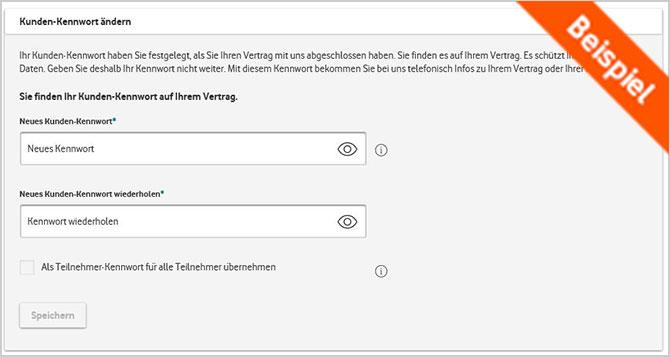 Kundenkennwort Vergessen Vodafone