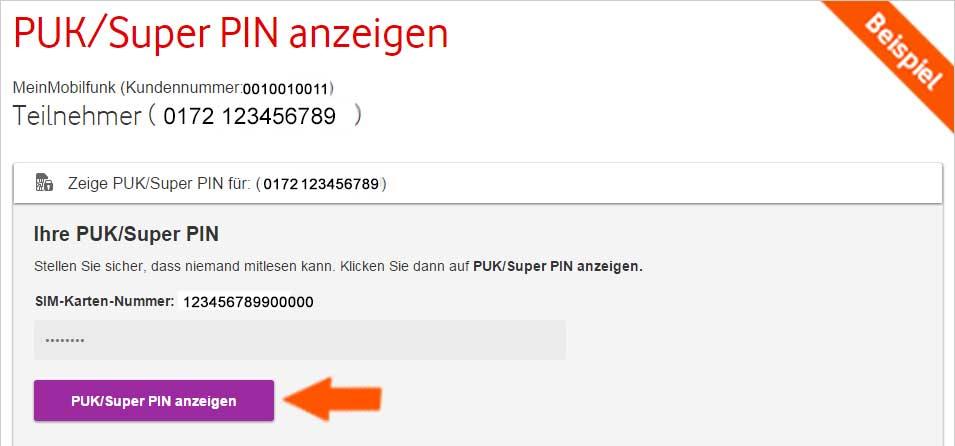 Vodafone Kundenkennwort Finden
