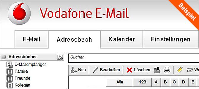 Kontakt Email Vodafone