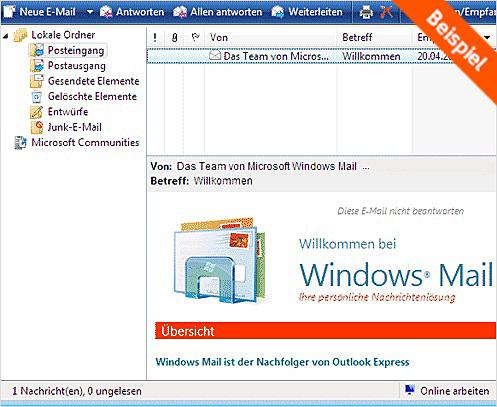 windows mail neu installieren