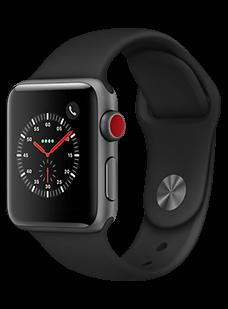 Apple Watch Series 3, 38 mm, Aluminium Spacegra...