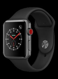 Apple Watch Series 3, 42 mm, Aluminium Spacegra...