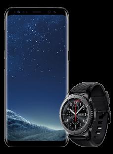 Samsung Galaxy S8 Black Gear S3 frontier