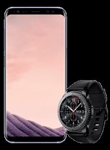 Samsung Galaxy S8 Grey Gear S3 frontier
