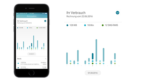 Datenkontroll-App für iPhone