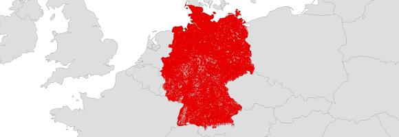 handynetz karte deutschland Netzabdeckung Vodafone