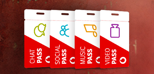 Eine Grafik mit den verschiedenen Vodafone Pässen