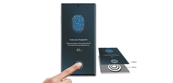 Samsung Galaxy Note10+ – Der Ultraschall-Fingerabdruck-Scanner
