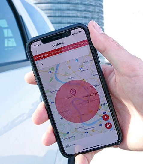 Connected Car in Google Map
